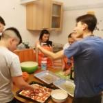 imparando a fare la pizza!